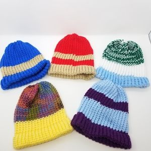 Five Knit Beanie Gift Set Comfy Warm Cool